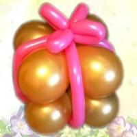 """Фигура из шаров """"Подарок из шаров"""""""