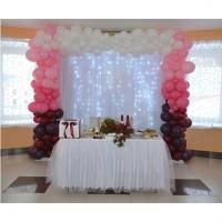 Оформление шарами свадьбы № 36