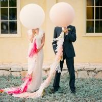 Оформление шарами свадьбы № 39
