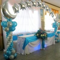 Оформление шарами свадьбы № 06