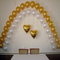 Оформление шарами свадьбы № 03