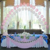 Оформление шарами свадьбы № 07