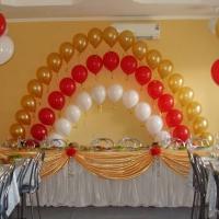 Оформление шарами свадьбы № 04