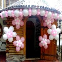 Оформление шарами фасада здания № 3