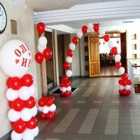 Оформление шарами свадьбы № 10