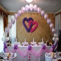 Оформление шарами свадьбы № 12