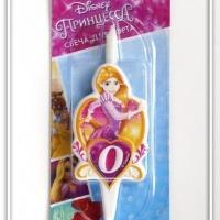 Свеча цифра 0 Принцесса