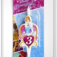 Свеча цифра 3 Принцесса