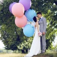 Оформление шарами свадьбы № 40
