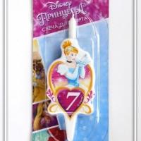 Свеча цифра 7 Принцесса