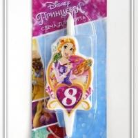 Свеча цифра 8 Принцесса