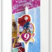 Свеча цифра 9 Принцесса