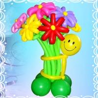 """Букет из шаров  """"Смайл с цветами"""""""