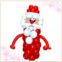 """Фигура из шаров """"Дед Мороз №1"""""""