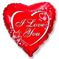 "Шар фольгированный ""Сердце Я люблю тебя"""