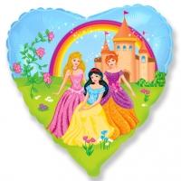 """Шар фольгированный """"Замок принцессы (сердце)"""""""
