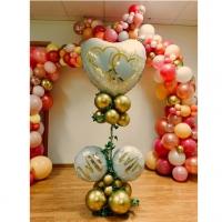 Оформление шарами свадьбы № 82