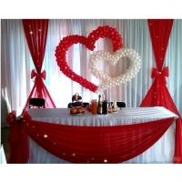 Оформление шарами свадьбы № 72