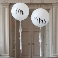 Оформление шарами свадьбы № 58
