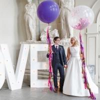 Оформление шарами свадьбы № 54